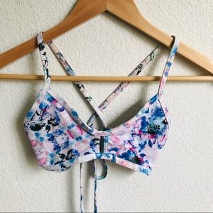 JOLYN Floral tieback bikini top Small